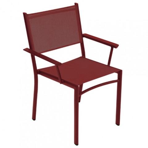 fauteuil costa fermob piment