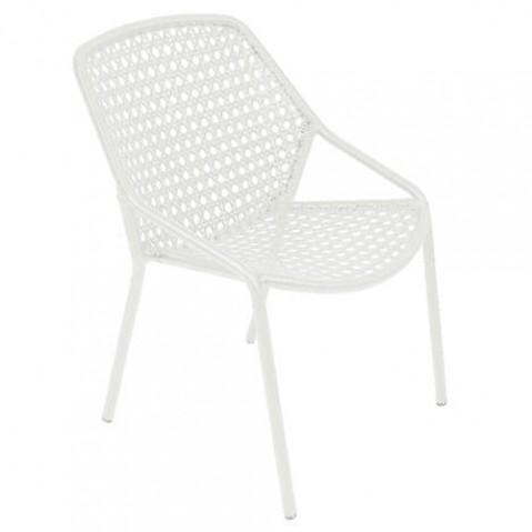 fauteuil croisette fermob blanc