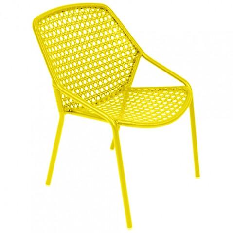 fauteuil croisette fermob miel