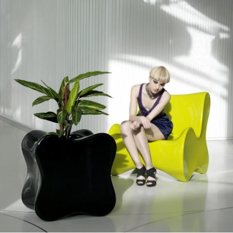fauteuil doux vondom noir