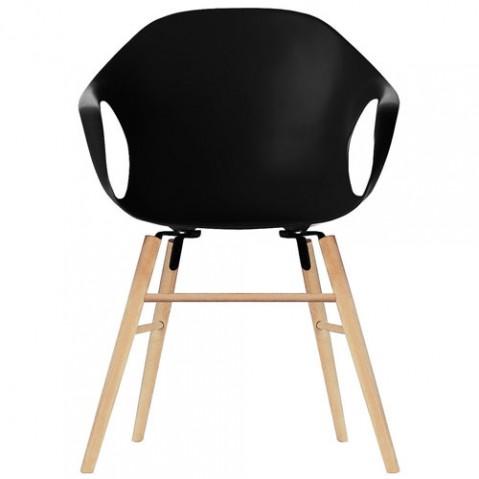 fauteuil elephant pietement bois kristalia noir