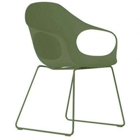 fauteuil de jardin elephant luge vert olive de kristalia. Black Bedroom Furniture Sets. Home Design Ideas
