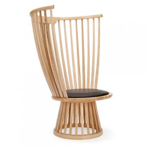 fauteuil fan tom dixon frene naturel
