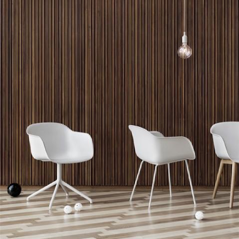 fauteuil fiber luge muuto blanc