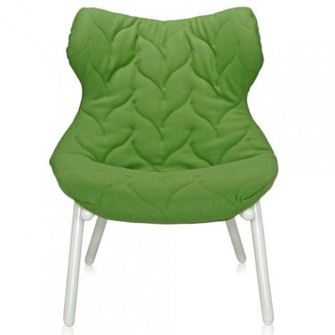 fauteuil foliage blanc kartell vert