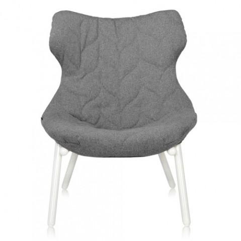 fauteuil foliage blanc kartell trevira gris