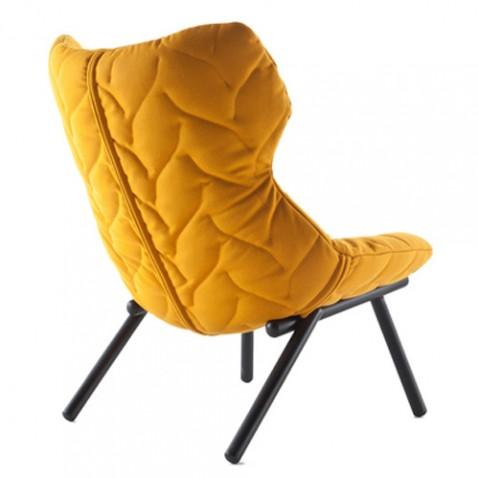 fauteuil foliage kartell noir orange