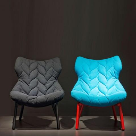 fauteuil foliage kartell rouge bleu