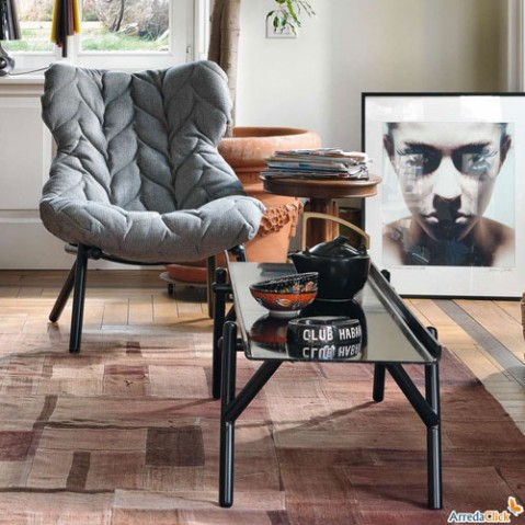 fauteuil foliage blanc kartell noir