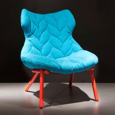 fauteuil foliage blanc kartell bleu