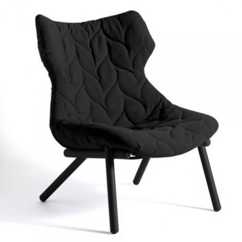fauteuil foliage kartell noir noir