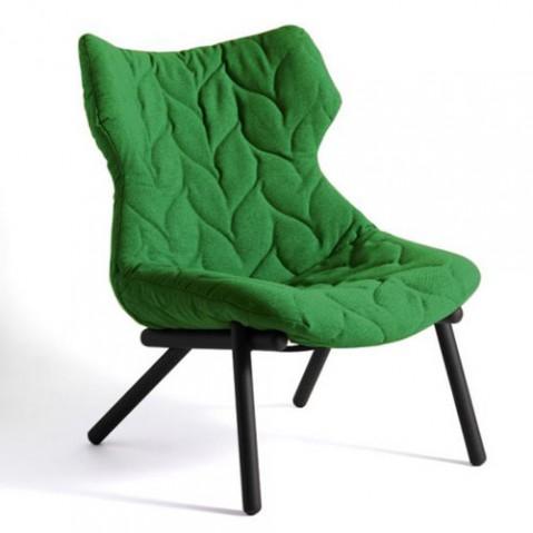 fauteuil foliage kartell noir vert
