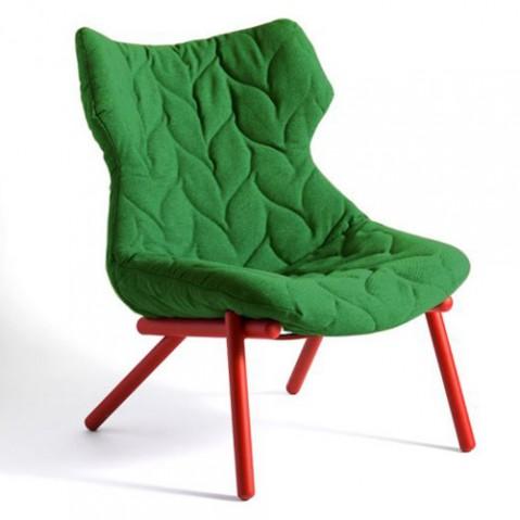 fauteuil foliage kartell rouge vert
