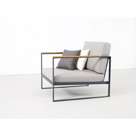 fauteuil garden easy roshults gris