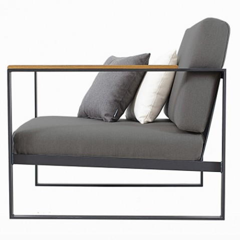 fauteuil garden easy roshults taupe