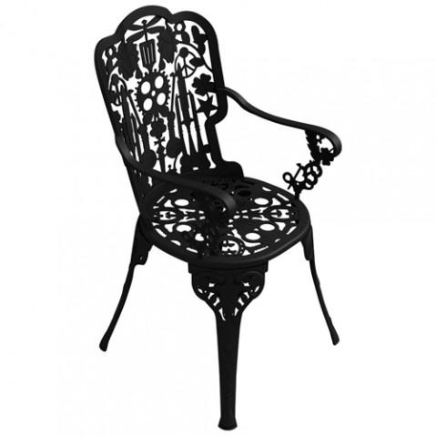 fauteuil industruy garden seletti noir