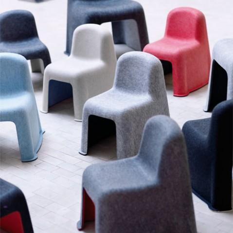 fauteuil enfant little nobody hay gris blanc