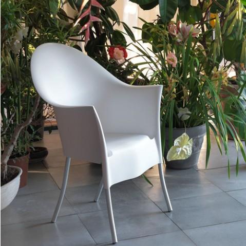 fauteuil lord yo driade gris clair