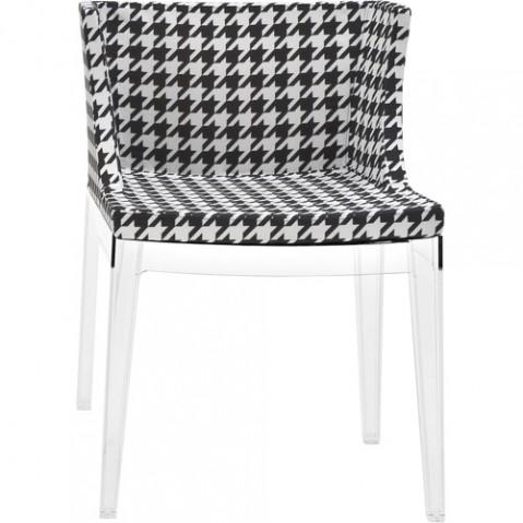 fauteuil mademoiselle kartell transparent pied poule