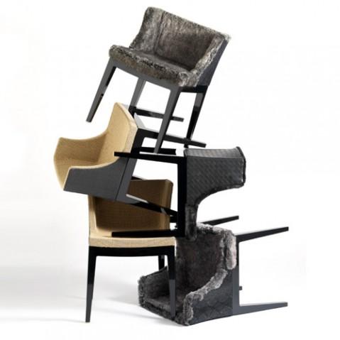 fauteuil mademoiselle kravitz kartell noir python