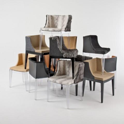 fauteuil mademoiselle kravitz kartell noir cuir