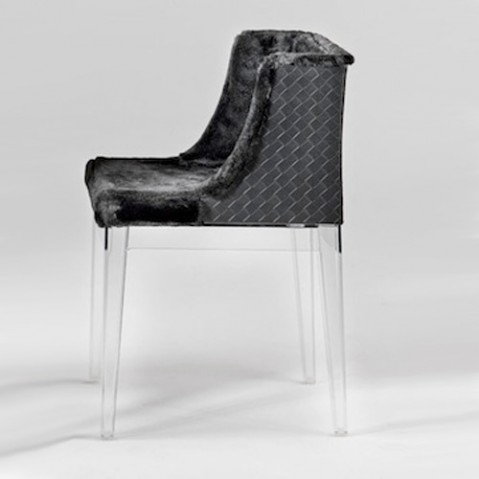 fauteuil mademoiselle kravitz kartell transparent cuir