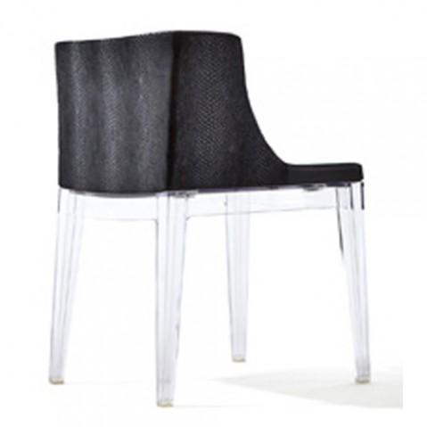 fauteuil mademoiselle kravitz kartell transparent python