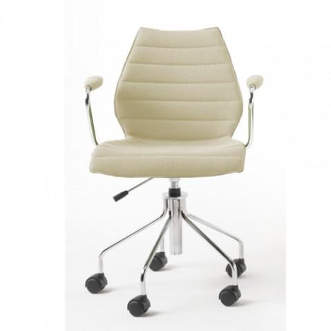 fauteuil roulettes maui soft kartell  beige