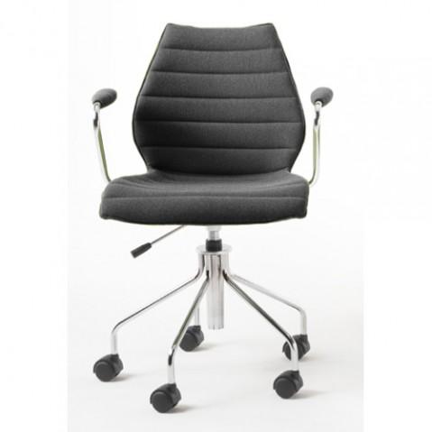 fauteuil roulettes maui soft kartell gris