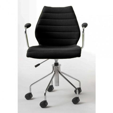 fauteuil roulettes maui soft kartell noir