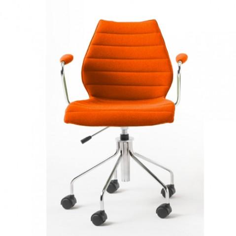 fauteuil roulettes maui soft kartell orange