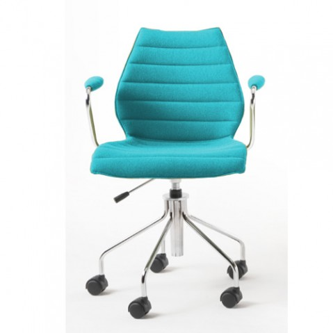 fauteuil roulettes maui soft kartell turquoise