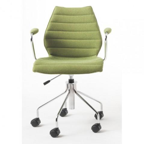 fauteuil roulettes maui soft kartell vert