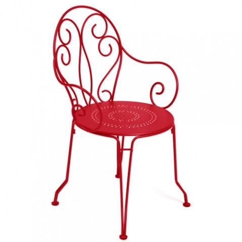 fauteuil montmartre fermob coquelicot