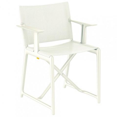 fauteuil pliant stanley magis blanc