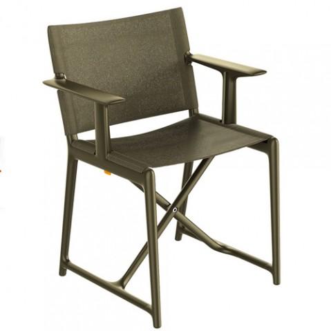fauteuil pliant stanley magis noir