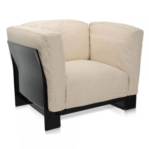 fauteuil pop duo kattell noir ecru