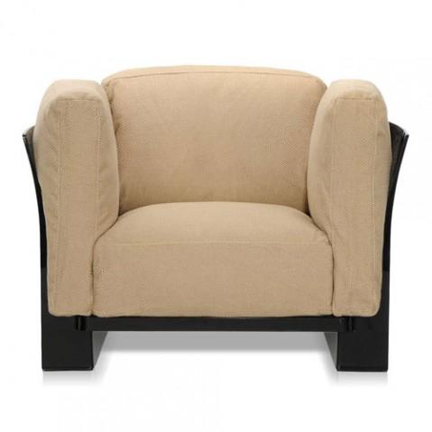 fauteuil pop duo kattell noir tourterelle