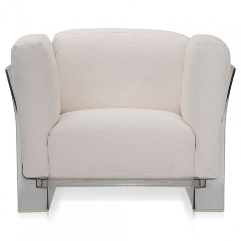 fauteuil pop duo karrtell transparent blanc