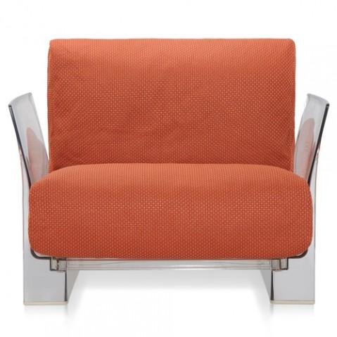 fauteuil pop outdoor kartell transparent ikon orange