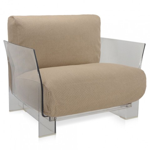 fauteuil pop outdoor kartell transparent ikon tourterelle