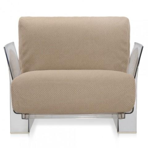 fauteuil pop outdoor kartell transparent ikon tourterelle