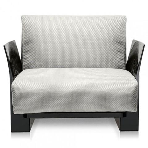 fauteuil pop outdoor kartell noir ikon blanc