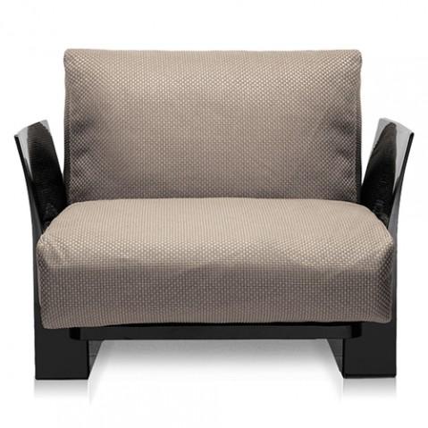 fauteuil pop outdoor kartell noir ikon tourterelle