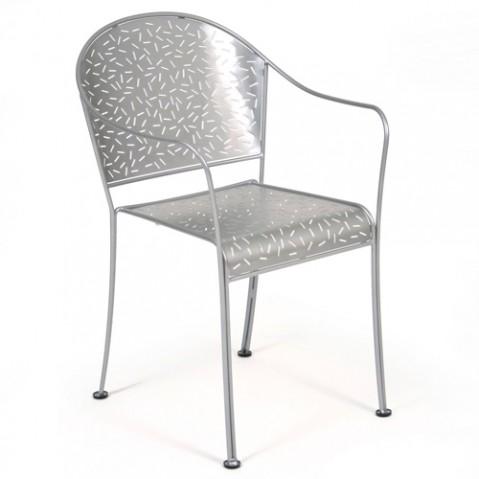fauteuil rendez vous fermob gris metal