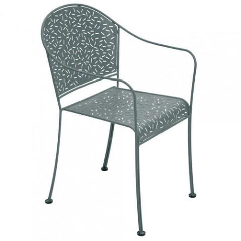 fauteuil rendez vous fermob gris orage