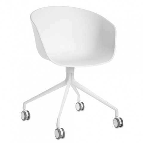 fauteuil roulettes aac24 about a chair hay blanc