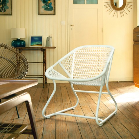 fauteuil bas sixties fermob blanc