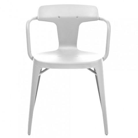 fauteuil t14 tolix blanc 9004