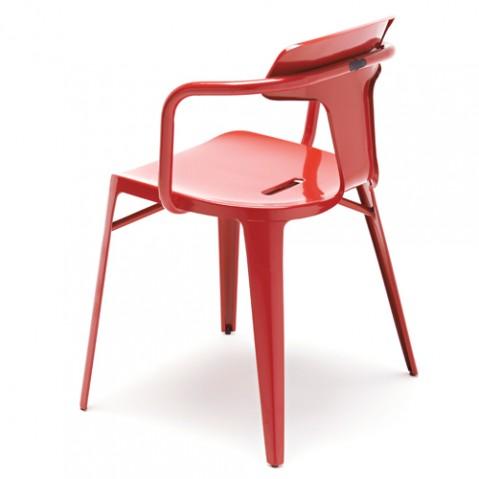 fauteuil t14 tolix coquelicot